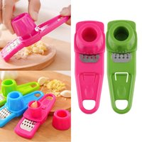 Wholesale Simple Multi Function Plastic Stainless Steel Garlic Ginger Press Chopper Cutter Grinder Device Kitchen Hand Tools