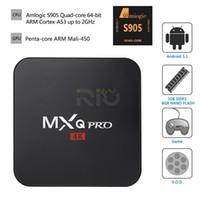 Wholesale Android TV Box MXQ Pro K S905 Updated Chipset Arabic IPTV Amlogic Quad Core G G HDMI WIFI K Kodi Full loaded
