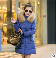 Wholesale new winter down cotton Parkas long sections Women Korean version Coats Nagymaros collar Outerwear