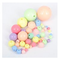 Wholesale 6 mm PASTEL GUMBALL Chunky Beads Solid Acrylic Easter Gum Ball Beads Round Plastic Bubblegum Beads MIX Bubble Gum Beads