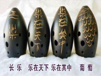 Wholesale Musical instrument black pottery xun image pattern commercial gift