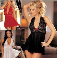 baby doll nightgown - 2016 Special Offer Time limited Solid Spandex Baby Doll Lenceria Sexy Sexy Lingerie Lace Size Nightgown Factory