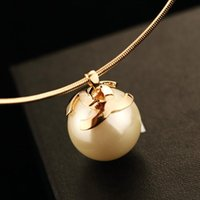 big pearls necklace - fashion necklaces for women big pearl vintage necklace long necklace choker pendant collares torquest gold statement accessories