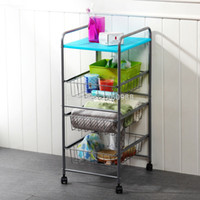 bath trolley - Metal Trolley Carrt Bath Room Wire Rack with Nylon Wheels and Drawers