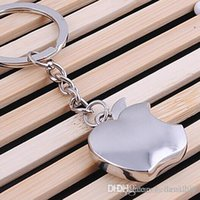 Wholesale NEW Novelty Souvenir Metal Apple Key Chain Creative Gifts Apple Keychain Key Ring Trinket