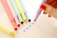 Wholesale DIY Cute Kawaii Highlither pen Colorful Plastic Markers for Kids Children Korean Stationery Gift