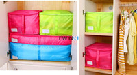 Wholesale Large Folding Storage Box For Quilt Clothes Pillows Moistureproof Sweater Dust proof Storage Bag Organizer Hot Selling
