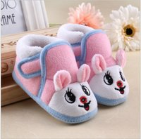 Wholesale Toddler Baby First Walker Shoes Infants Cute Cartoon Rabbit Keep Warm Cotton Shoes Kids Autumn Winter Non Slip Shoes Children Boy Girl Shoes