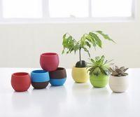 Wholesale 7pcs desktop green plants Flower pots planters Home decoration plastic flower vases Mini pots new year bonsai wedding decorative pots