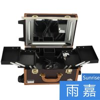 artist training - multi layer vintage lamp professional cosmetics trolley Makeup Artist Salon Train Case