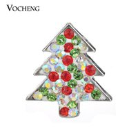 Wholesale Vocheng Noosa Christmas Gift Christmas Tree Snap Button Interchangeable Crystal Ginger Snap Accessories for Women Vn
