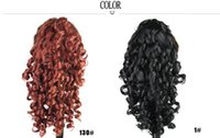 Wholesale 2015 new women s hair wig in South America popular hair claw clip in a long high temperature wire wig