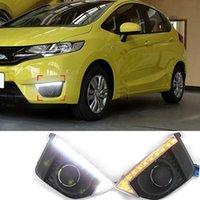 Wholesale 9 LED v Car Styling Daytime Running Lights Fog Lamp Newest DRL for Honda Fit Jazz Super Bright High Quality