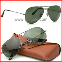 amber lenses - Brand new sunglasses Gun color frame Green glass lens for Women s and Men s sunglass Size mm Glasses