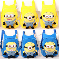 Wholesale Hot sale Despicable Me Minion Cute Children kids cartoon school bags backpack students schoolbag children Students bags minion bag