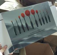 artist professional makeup kits - Makeup Brushes Sets Portable Toothbrush Style Foundation BB Brush Professional Cosmetic Make up Artist Man Made Fiber Plastic Handle DHL