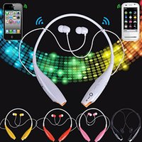 Wholesale HB Wireless Stereo Bluetooth Headphone HV800 Headset Neckband Style Earphone for iPhone Nokia HTC Samsung LG Cellphones AAAA quality