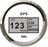 Wholesale 85mm digital GPS speedometer speedo GPS speedometer for boat yacht marine white faceplate V V