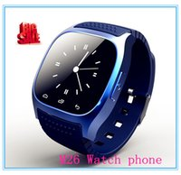 fashion wholesalers - factory wholesaler Fashion Smart Bluetooth Watch M26 with LED display Dial SMS Reminding Music Player Pedometer for Mobile Phone
