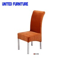 Wholesale Modern Simple Design Metal Frame Iron dining Chair Dining Room Or Garden Chair With fabric Cushion