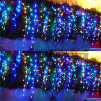 led christmas icicle lights - LED Curtain String Light m m leds Icicle Background Christmas Wedding Party Holiday Fairy Deocration Lighting