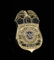 american immigration - American metal badge of the U S Department of Homeland Security DHS immigration and Customs Enforcement Bureau chest Badge