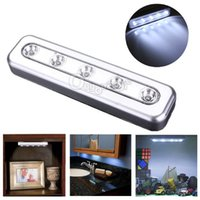 Wholesale Tap Light LED Battery Powered High Quality Self Stick Under Cabinet Push Touch Night Lamp Kitchen Closet Desk Bulb Ship Free