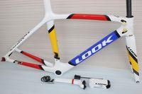 Wholesale Multi Color carbon bicycle frame Look carbon frame fork seatpost clamp headset stem glossy finish full carbon fiber road bike frame