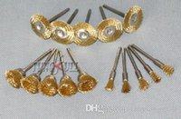 Wholesale 15PC Wire Brass Brush Brushes Wheel Dremel Accessories for Rotary Tools