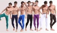 Men White Underwear Pants for sale - Winter Men's Thermal Bamboo Underwear Panties Sexy Smooth Long John Pants Legging Hot Sale High Quality