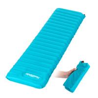 air mattress - Outdoor Camping NH Naturehike Ultralight Manual Inflatable Hand Press Inflating Sleeping Pad Tent Air Mat Mattress Dampproof DHL Y0958