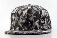 Wholesale Cartoon snapback hats One Piece Attack on Titan Gin Tama Naruto Dragon Ball Adventure Time adjustable baseball cap QH