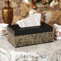antique gold pumps - Antique gold fashion tissue pumping box leather box desktop decoration