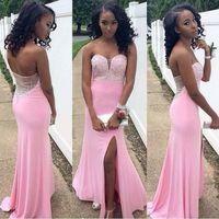 Cheap Luxury Cheap Split Side Prom Dress Best Strapless Formal Evening Gowns