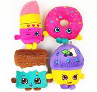 Wholesale hot new plush toys cm Mini Muffin doughnut lipsticks Chocolate Stuffed Plush doll Toys