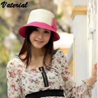 Chapeaux de soleil gros-2015 nouvelles couleurs simples noeud papillon bouchon du bassin court combles dôme chapeau chapeaux de soleil plaisancier d'été |