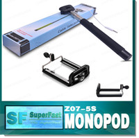 Wholesale cable take pole monopod Z07 S with groove selfie Stick selfie timer Extendable Self Timer Handheld for iphone Galaxy S6