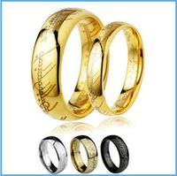 ring size 4 - colors can mix size color The Lord of the Rings mm mm L Stainless Steel Couple Ring