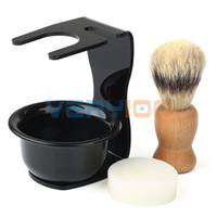badger shave brushes - Brand New Mens Gift Mix Badger Hair Shaving Brush Acrylic Stand Hold Bowl OR Soap order lt no track