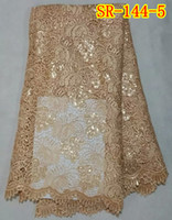 Wholesale African sequins Guipure lace fabric yaeds SR
