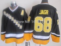 air stop - Factory Outlet PITTSBURGH PENGUINS THROWBACK JERSEY JAROMIR JAGR JERSEY S AIR KNIT BLACK CCM MASKA STITCHED CHEAP NHL HOCKEY JERSE