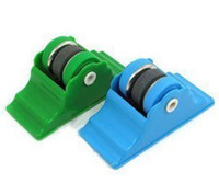 Wholesale Grindstone Knife Sharpener Scissors Grinder Secure Suction Chef Pad Kitchen Sharpening Tool Can Fix Green Blue J4633