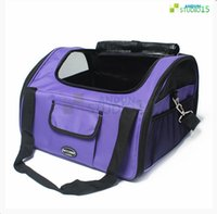 booster seat - 42 cm Pet Car Seat Carrier Small Pet Dog Cat Adjustable Booster Car Seat Carrier Travel Bag w Leash Purple