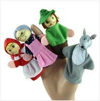baby ride toys - 120pcs CCA2184 set Little Cartoon Animal Red Riding Hood BABY Playful Finger Toys Puppets Story Party Puzzle Storytelling Dolls