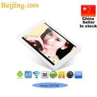 Wholesale Onda V975M v4 inch Quad Core Tablets Cortex A9 GHz Retina Screen x1536 GB GB HDMI Bluetooth Android