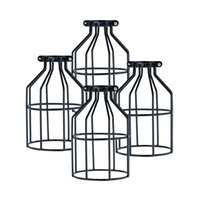 Wholesale Price Iron Black Lampshade Set Bird Cage Shape Bulb Cover Lamp Cover American Country Loft Light order lt no t