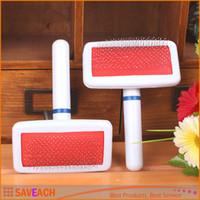 Wholesale Pet Dog Comb Long Hair Brush Plastic Handle Puppy Cat Dog Massage Bath Brush Multifunction Pet Grooming Tool