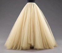 girls petticoats - Tulle Petticoats Skirts Floor Length Mulitilayer Cheap Party Dress For Girl Free Size Formal Women Gowns Hot Sale Fashion Petticoat