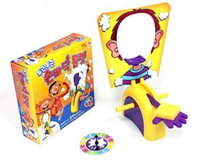Wholesale PIE Face Game PIE Splat Fun Game Pie Face Cream On Her Face Hit The Send Machine Filled Family Game of Suspense Paternity Toy