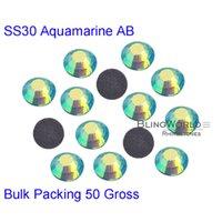 ab cuts sport - Garment Accessories Gross Cuts mm SS30 Bulk Packing Aquamarine AB Loose DMC Hotfix Rhinestones For Motifs